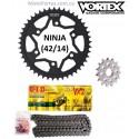 NINJA 300 - VORTEX - Kit de Arrastre para KAWASAKI