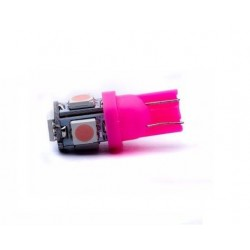 Luz Bombillo 5 LED T10 - Pink