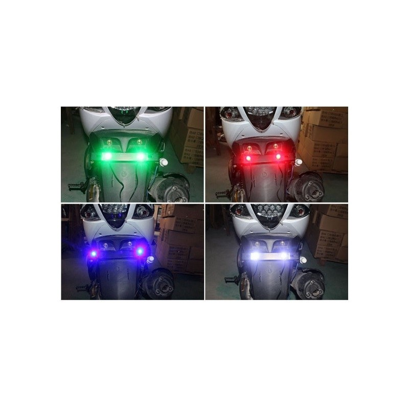 Luz LED Ojo de Aguila 23mm - 1 Par - MotoPartes.com.co