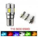 Luz LED T10 5630 SMD 6 LED