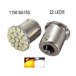 Luz LED 1156 BA15S 22 LEDS - DIRECCIONALES x 1Par