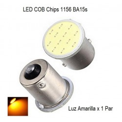 Luz LED 1156 BA15S 12 LEDS - DIRECCIONALES x 1Par
